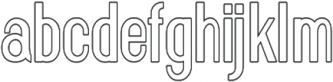 Florence Semi Bold Condensed outline otf (600) Font LOWERCASE