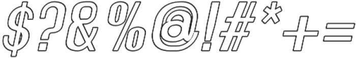 Florence Semi Bold Italic outline otf (600) Font OTHER CHARS