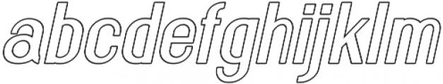 Florence Semi Bold Italic outline otf (600) Font LOWERCASE