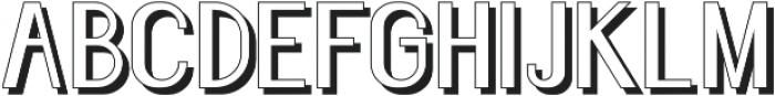 Florence Semi Bold shadow otf (600) Font UPPERCASE