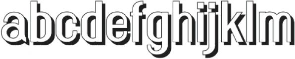 Florence Semi Bold shadow otf (600) Font LOWERCASE