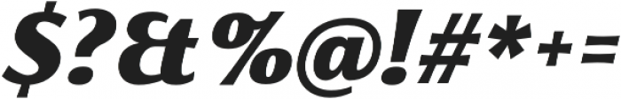 Florentia Black Italic otf (900) Font OTHER CHARS