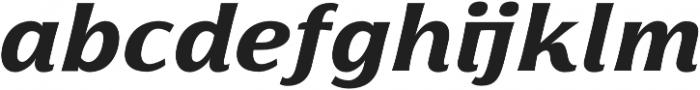 Florentia ExtraBold Italic otf (700) Font LOWERCASE