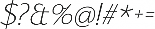 Florentia ExtraLight Italic otf (200) Font OTHER CHARS