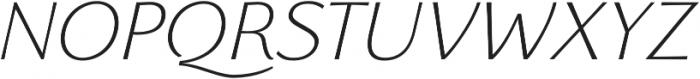 Florentia ExtraLight Italic otf (200) Font UPPERCASE