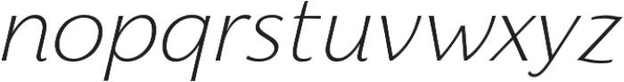 Florentia ExtraLight Italic otf (200) Font LOWERCASE