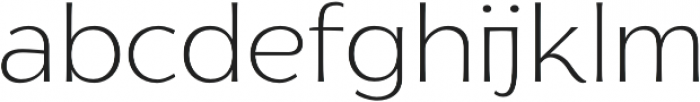 Florentia ExtraLight otf (200) Font LOWERCASE