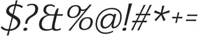 Florentia Light Italic otf (300) Font OTHER CHARS