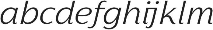 Florentia Light Italic otf (300) Font LOWERCASE