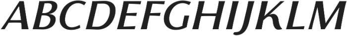 Florentia Medium Italic otf (500) Font UPPERCASE