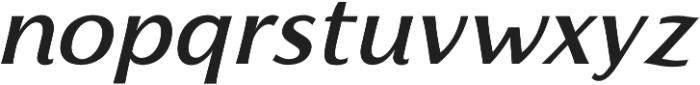 Florentia Medium Italic otf (500) Font LOWERCASE