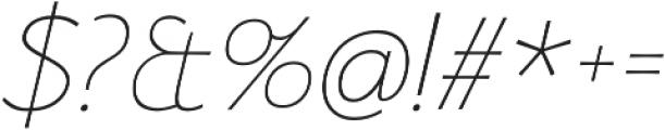 Florentia Thin Italic otf (100) Font OTHER CHARS