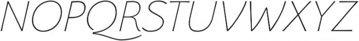 Florentia Thin Italic otf (100) Font UPPERCASE