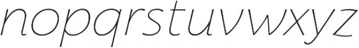 Florentia Thin Italic otf (100) Font LOWERCASE