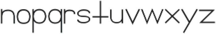 Florida Girl Sans Medium Medium otf (500) Font LOWERCASE