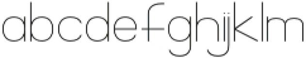 Florida Girl Sans otf (400) Font LOWERCASE