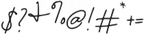 Florida Girl Script otf (400) Font OTHER CHARS