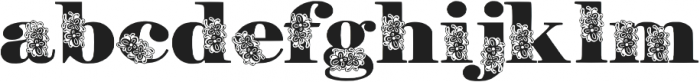 FloryAnna otf (400) Font LOWERCASE