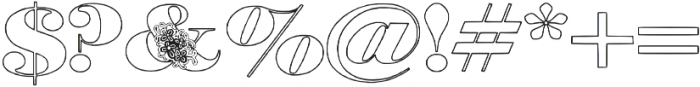 Floryan otf (400) Font OTHER CHARS