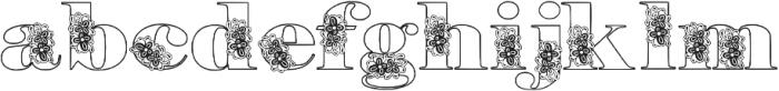 Floryan otf (400) Font LOWERCASE