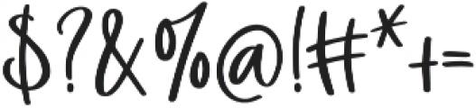 Flower Child otf (400) Font OTHER CHARS
