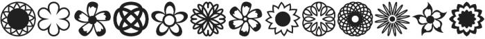 Flowerdinki Symbols otf (400) Font UPPERCASE