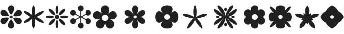 Flowerdinki Symbols otf (400) Font LOWERCASE