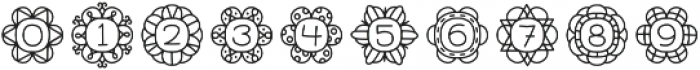 Flowers Regular otf (400) Font OTHER CHARS