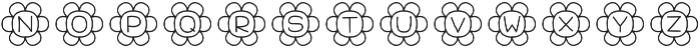Flowers Regular otf (400) Font UPPERCASE
