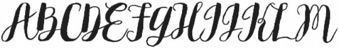 Flowy Brush Freehand otf (400) Font UPPERCASE