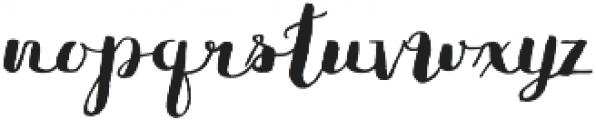 Flowy Brush Freehand otf (400) Font LOWERCASE