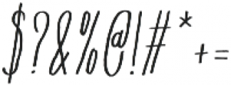 Flowy Condense Freehand Italic otf (400) Font OTHER CHARS