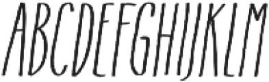 Flowy Condense Freehand Italic otf (400) Font UPPERCASE