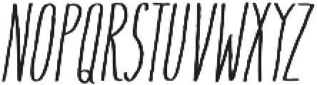 Flowy Condense Freehand Italic otf (400) Font LOWERCASE