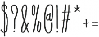 Flowy Condense Freehand otf (400) Font OTHER CHARS