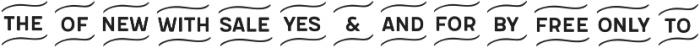 Flowy Extras otf (400) Font UPPERCASE