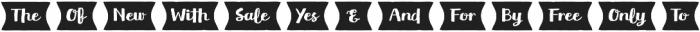 Flowy Extras otf (400) Font LOWERCASE