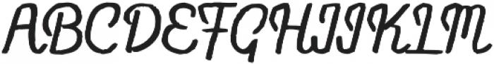 Flowy Script Freehand otf (400) Font UPPERCASE