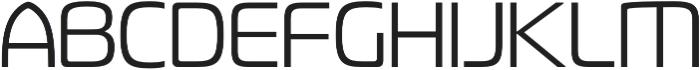 Fluctuation Light otf (300) Font UPPERCASE