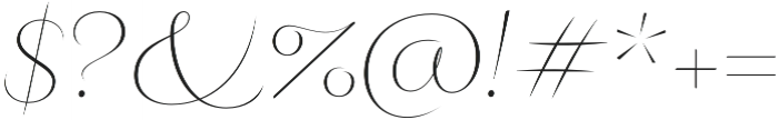 Fluence One otf (400) Font OTHER CHARS