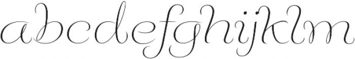 Fluence One otf (400) Font LOWERCASE