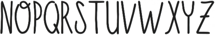 Fluffy Bold otf (700) Font UPPERCASE
