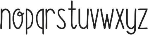 Fluffy Bold otf (700) Font LOWERCASE