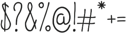 Fluffy Regular otf (400) Font OTHER CHARS