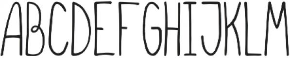 Fluffy Regular otf (400) Font UPPERCASE