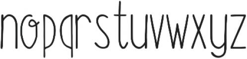 Fluffy Regular otf (400) Font LOWERCASE