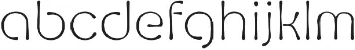 Fluid Light otf (300) Font LOWERCASE