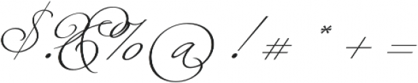 Fluire Regular otf (400) Font OTHER CHARS