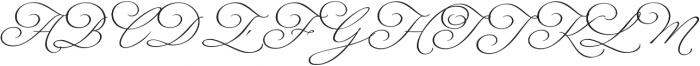 Fluire Regular otf (400) Font UPPERCASE