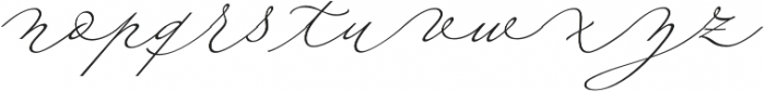 Fluire Regular otf (400) Font LOWERCASE
